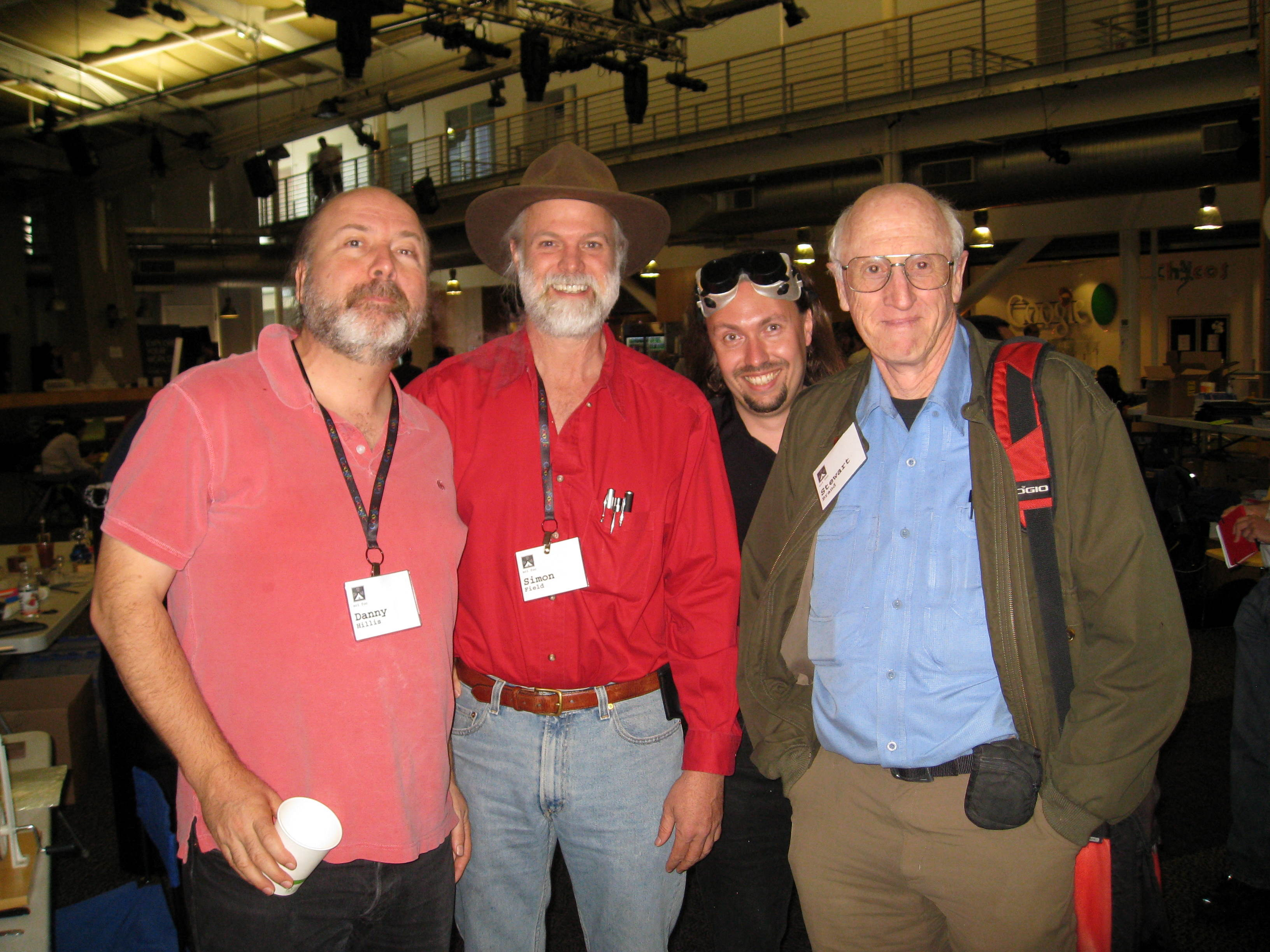 Danny Hillis, Simon Field, Paul Fenwick, and Stewart_Brand at SciFoo10