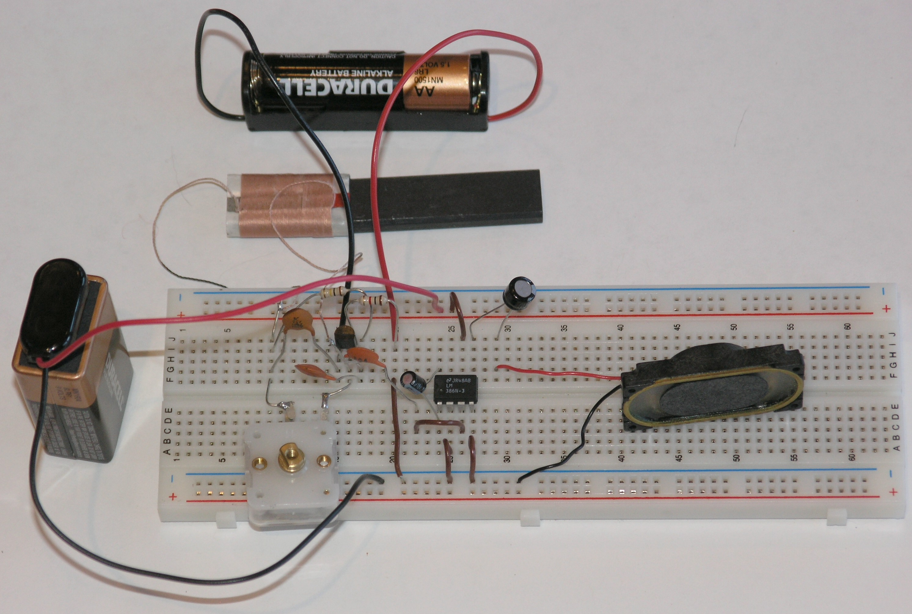 an integrated circuit audio amplifier science toys