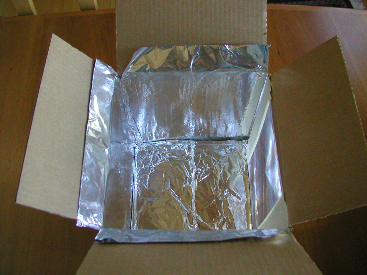 Box with foil